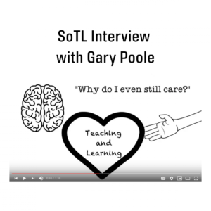 SoTL Interview with Gary Poole